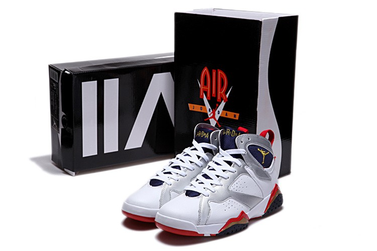 Nike Air Jordan 7 Mens White/Yellow/Red LH285903